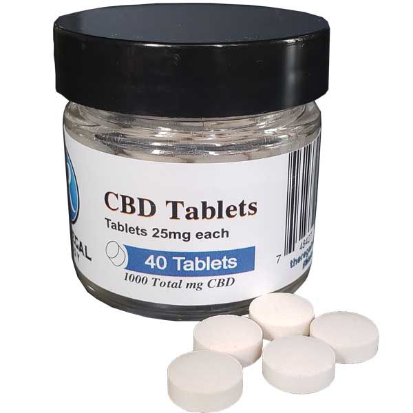 Pure CBD isolate tablets. 25 mg